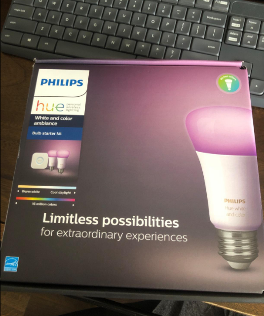 Philips Hue 2-Pack White and Color A19 Medium Lumen Smart Bulb